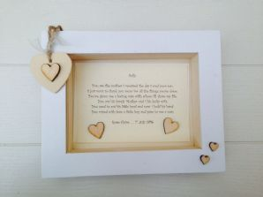 Shabby Personalised Chic Box Frame Present Mother Of The Groom From The Bride
